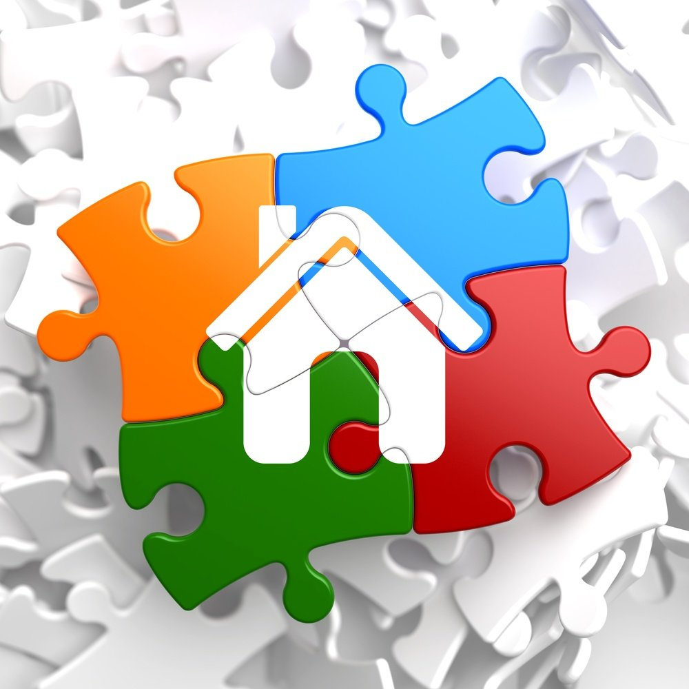 Home Icon on Multicolor Puzzle..jpeg