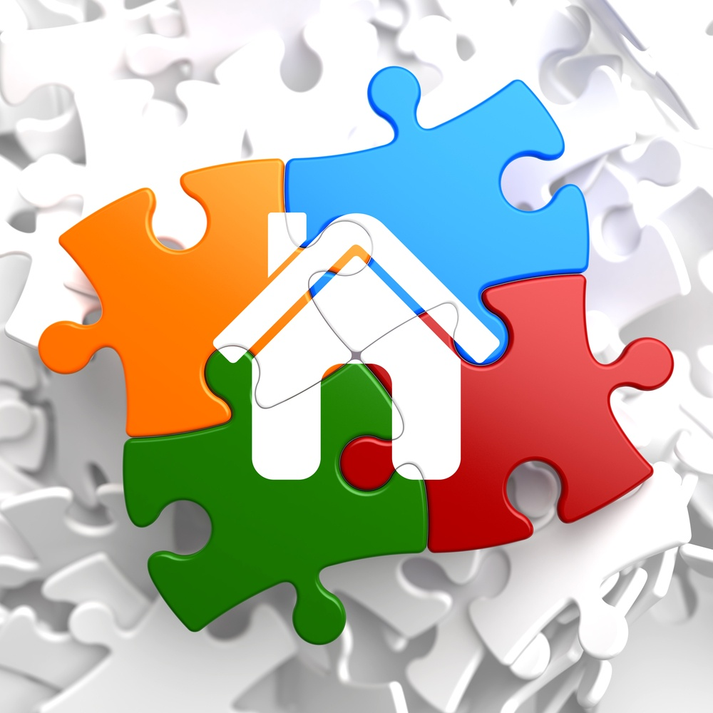 Home Icon on Multicolor Puzzle..jpeg