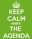 hoa board meeting, key calm here is the agenda