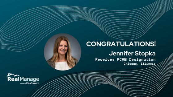 RealManage's Jennifer Stopka Receives PCAM Designation