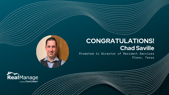 Chad Saville Promoted to Director of Resident Services