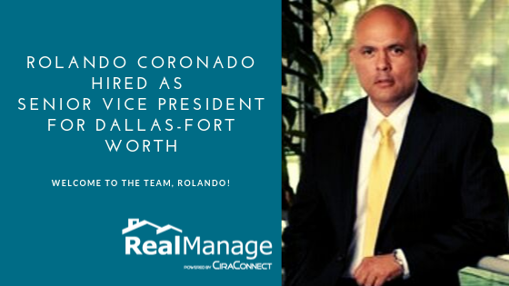 Rolando Coronado Hired As Senior Vice President for RM DFW