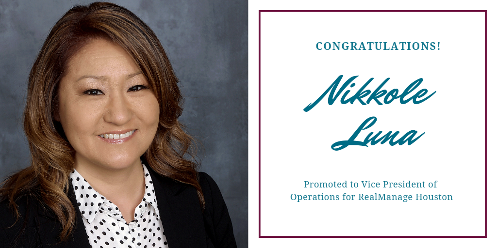 Nikkole Luna Promoted to VP of Operations for Houston Market