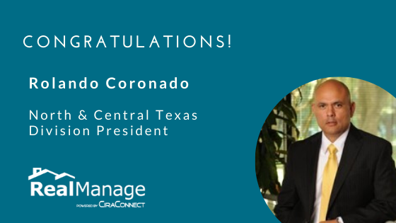 RealManage's Rolando Coronado Promoted to Division President